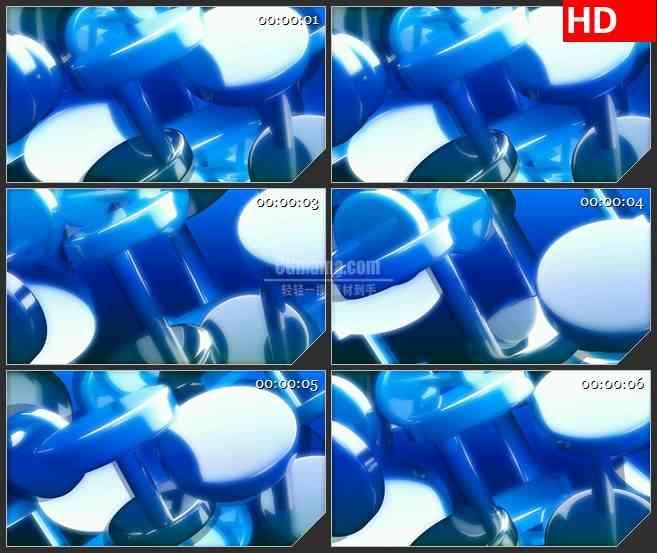 BG3133 旋转的蓝色圆圈3Dled大屏背景高清视频素材
