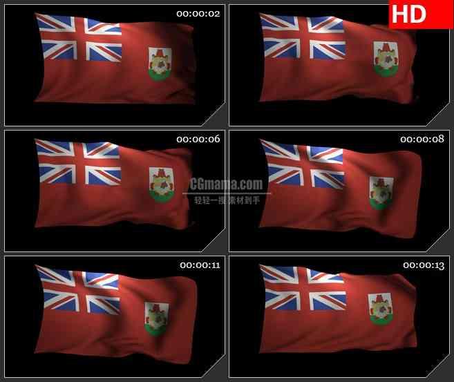 BG3134百慕大群岛旗帜3Dled大屏背景高清视频素材