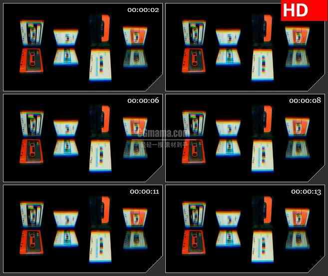 BG3137盒滚动3Dled大屏背景高清视频素材