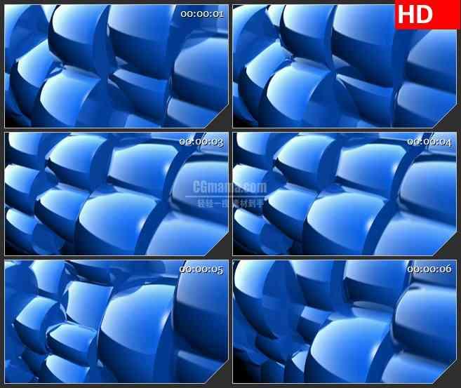 BG3141蓝色3D旋转球led大屏背景高清视频素材
