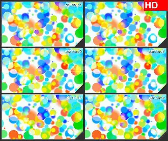 BG3150背景虚幻的彩虹圈led大屏背景高清视频素材