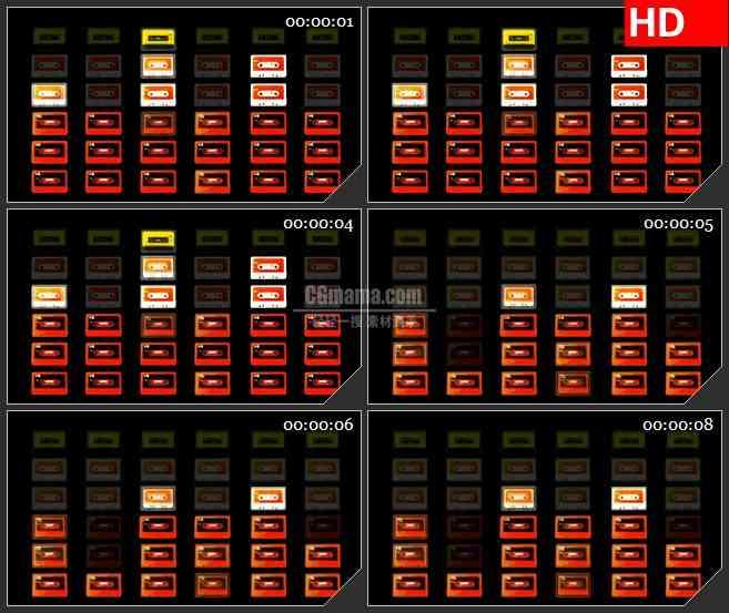 BG3152变动的磁带led大屏背景高清视频素材