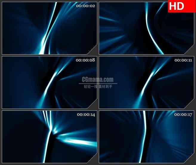 BG3155不规则运动蓝色光线led大屏背景高清视频素材