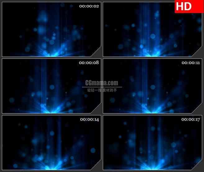 BG3179地平线上升起的蓝色光球led大屏背景高清视频素材