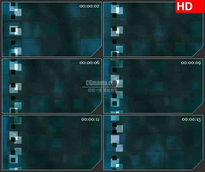 BG3195动态 像素块光背led大屏背景高清视频素材