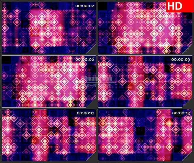 BG3218动态光背 闪亮的钻石 红色led大屏背景高清视频素材