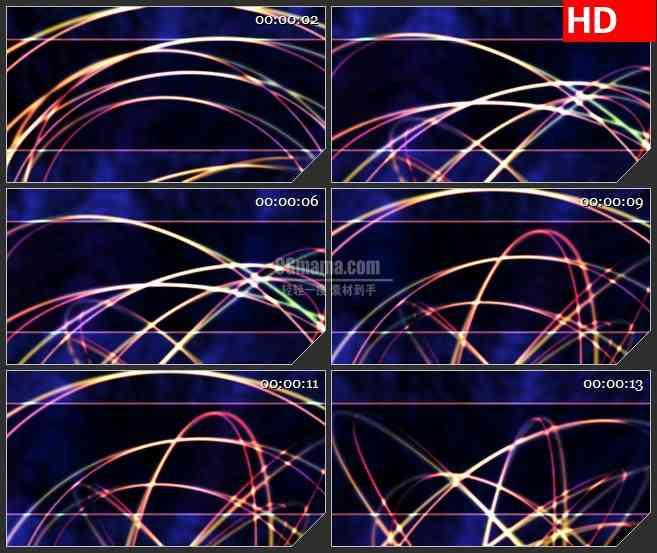 BG3220动态光背 旋转的光圈led大屏背景高清视频素材
