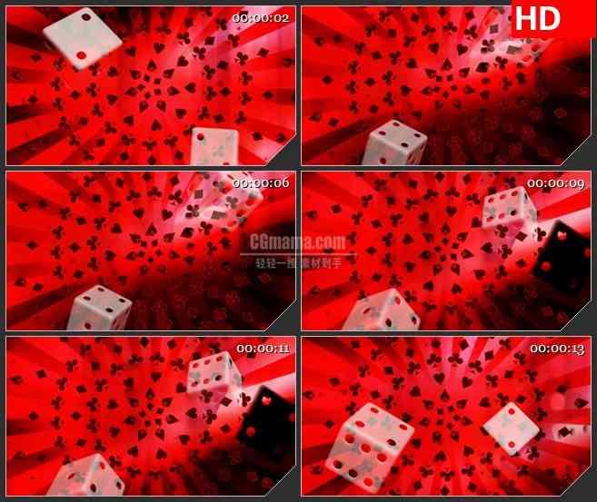 BG3236赌场风云 骰子扑克纸牌led大屏背景高清视频素材