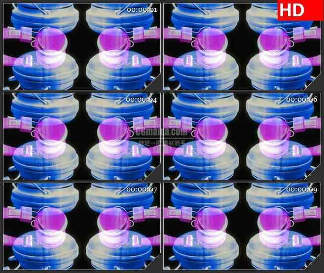 BG3239多色调变换旋转的耳机led大屏背景高清视频素材