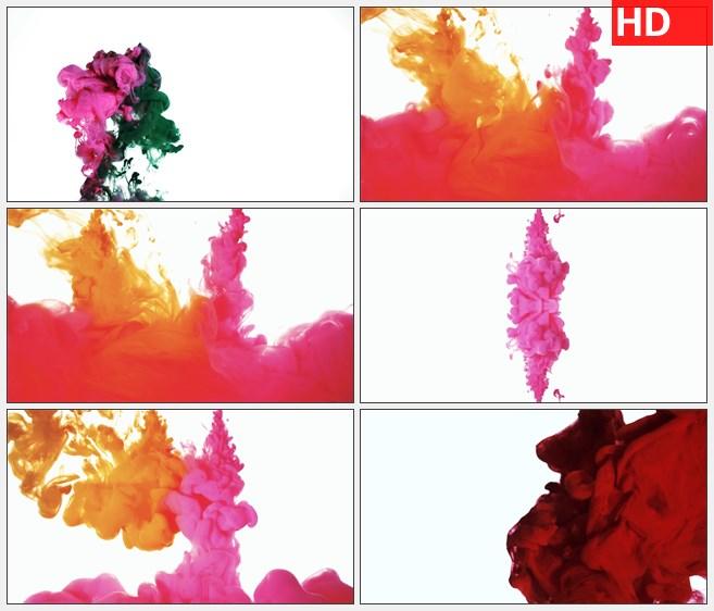 ZY1512紫色绿色水墨墨水高清特效视频素材
