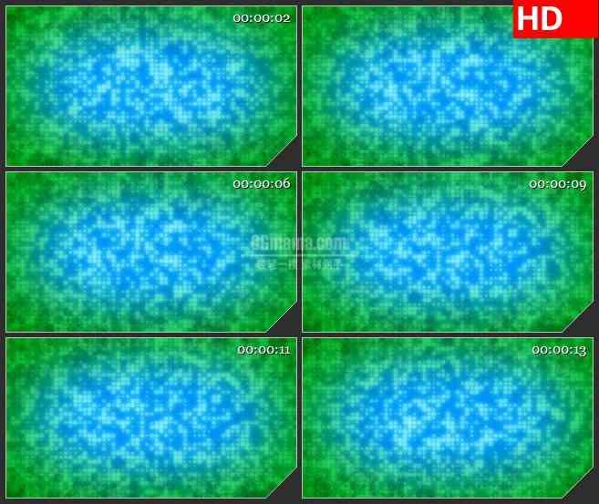 BG3243繁星点点 蓝绿色光点led大屏背景高清视频素材