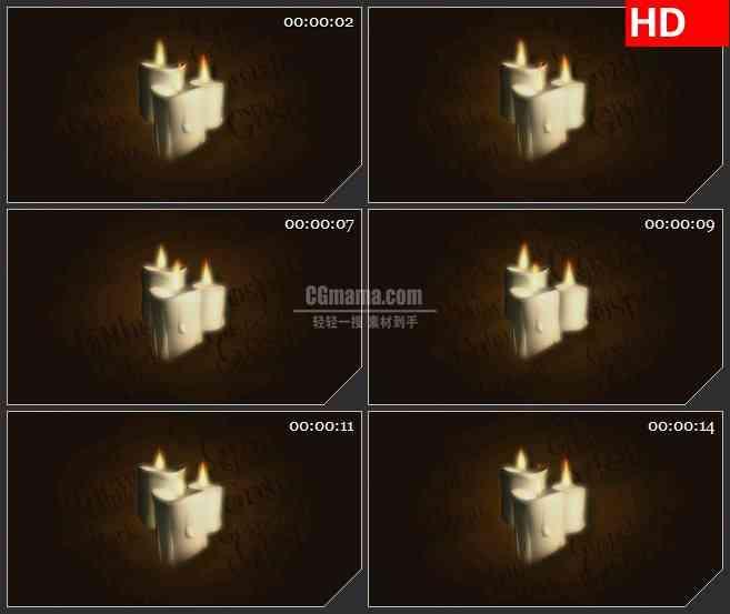 BG3249浮动的字幕 燃烧的蜡烛led大屏背景高清视频素材
