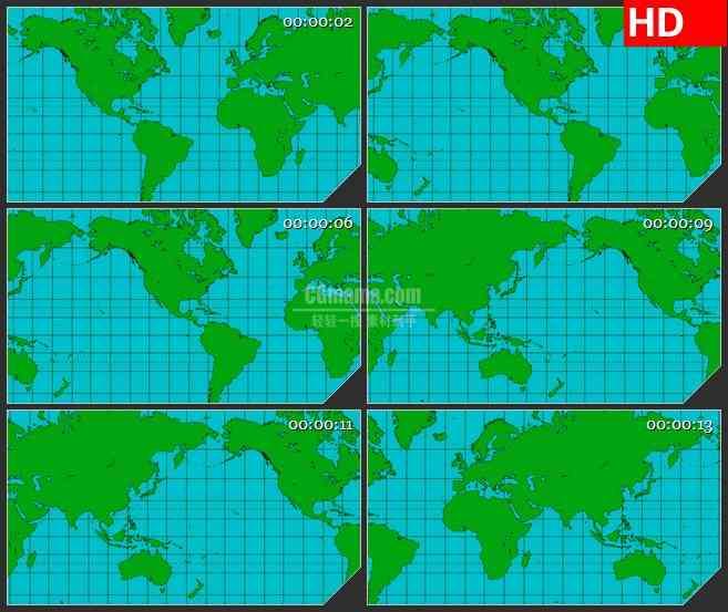 BG3251滚动的世界地图led大屏背景高清视频素材