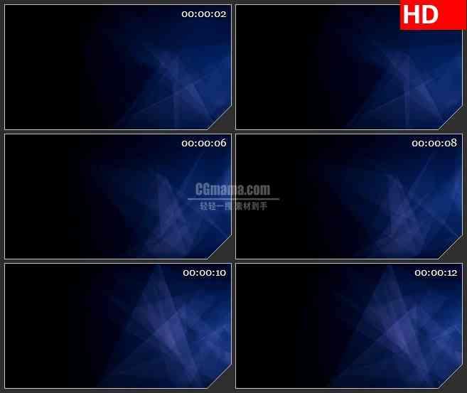 BG3253黑暗中的蓝色钻石led大屏背景高清视频素材