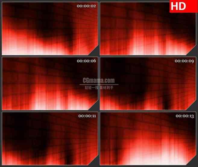 BG3267火红的墙壁 led大屏背景高清视频素材