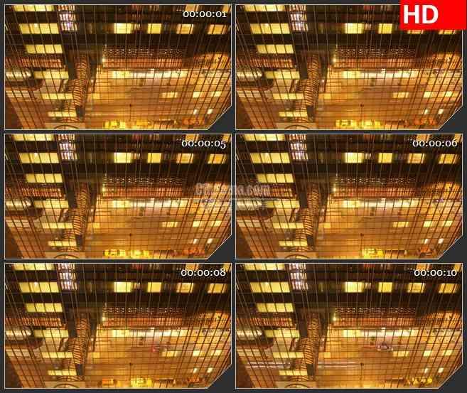 BG3269建筑的窗口 街景倒影led大屏背景高清视频素材