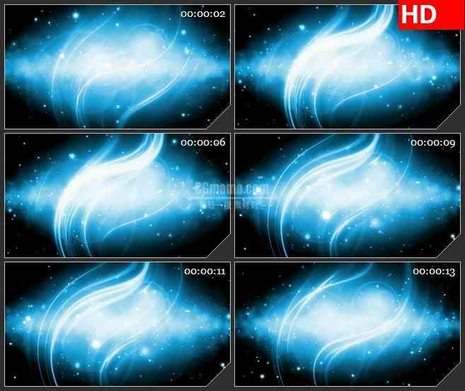 BG3284蓝纺耀斑 星空led大屏背景高清视频素材