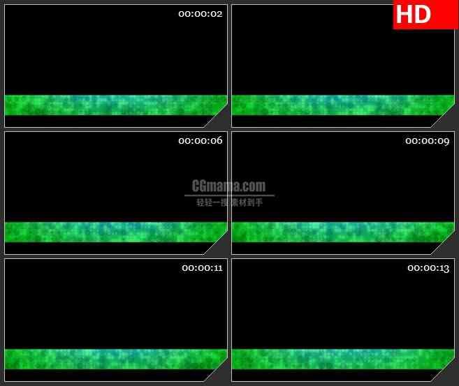 BG3288蓝绿色光点栏目条led大屏背景高清视频素材