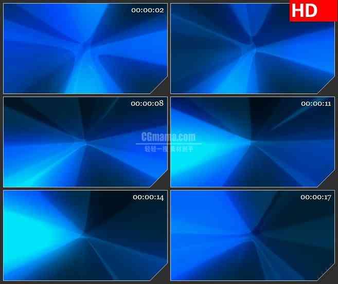 BG3291蓝色的旋转风车led大屏背景高清视频素材