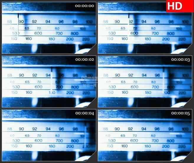 BG3307蓝色无线电 电台扫描led大屏背景高清视频素材