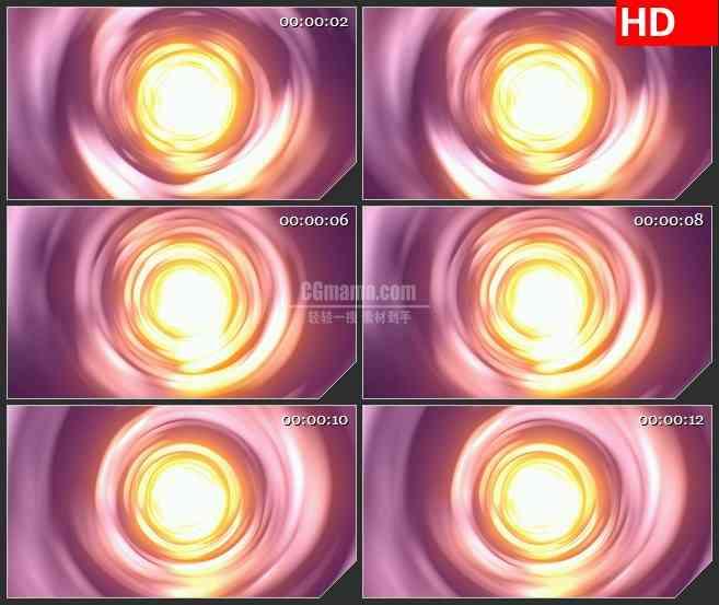 BG3333明亮的光线隧道led大屏背景高清视频素材