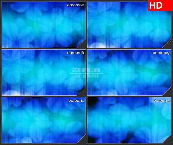 BG3340模糊的蓝色光雾led大屏背景高清视频素材
