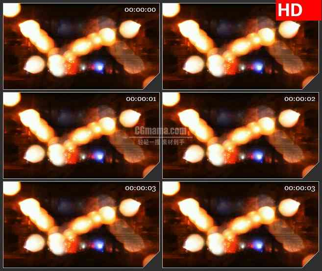 BG3341模糊的桥灯 朦胧夜景led大屏背景高清视频素材