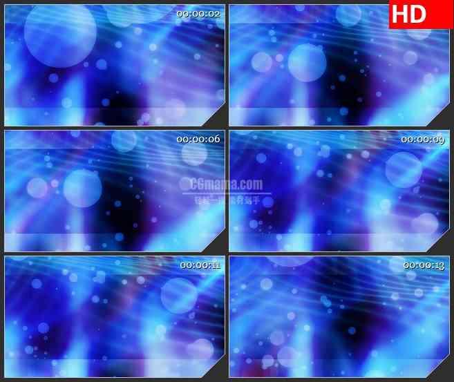 BG3345漂浮的蓝紫色泡泡 粒子特效led大屏背景高清视频素材
