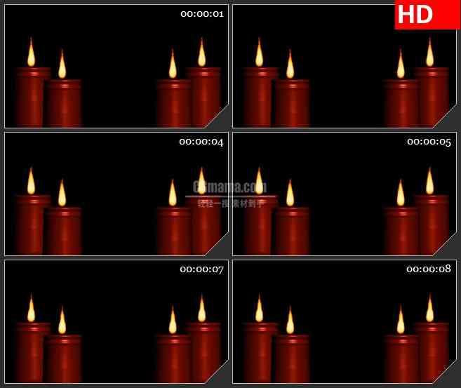 BG3351燃烧的蜡烛 夜幕下的烛火led大屏背景高清视频素材