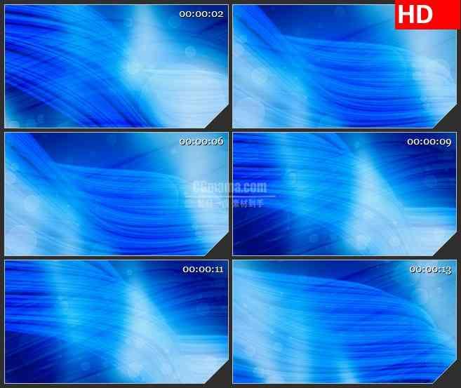BG3360柔顺的蓝色波浪线  透明的波点 led大屏背景高清视频素材