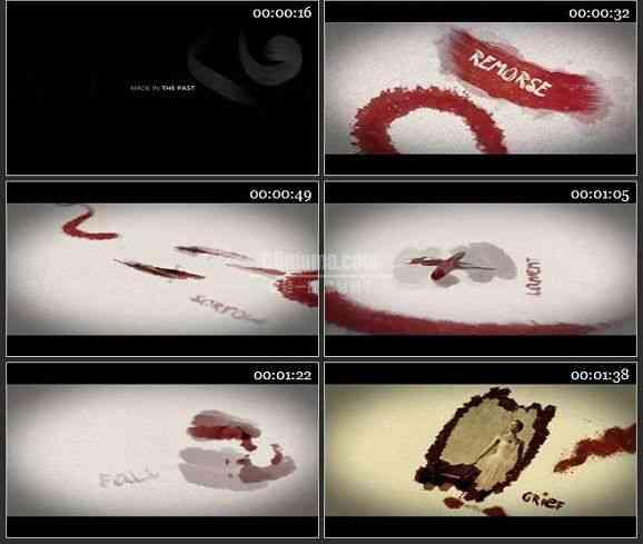 AE1951-画布上颜料动画视频图文展示