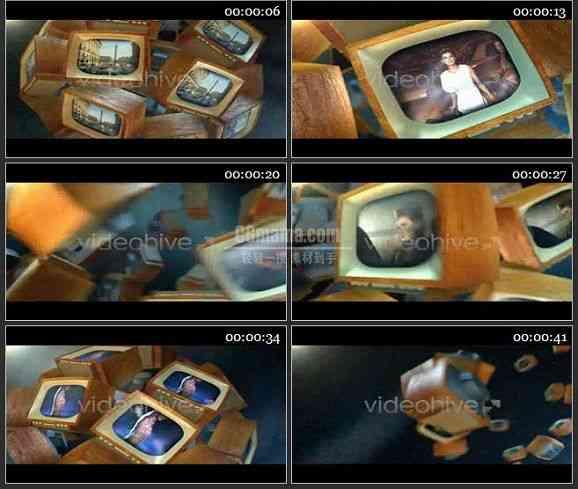 AE1962-老电视动画视频展示