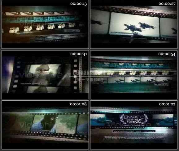 AE1963-胶片风格电影预告图片展示