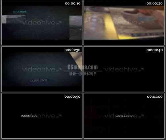 AE1984-动态高科技电视包装图文视频展示