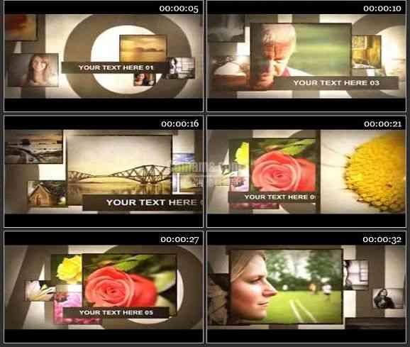 AE2004-相片展示电视包装图文展示