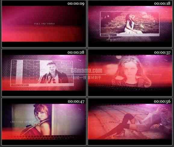 AE2007-彩色风格相片展示