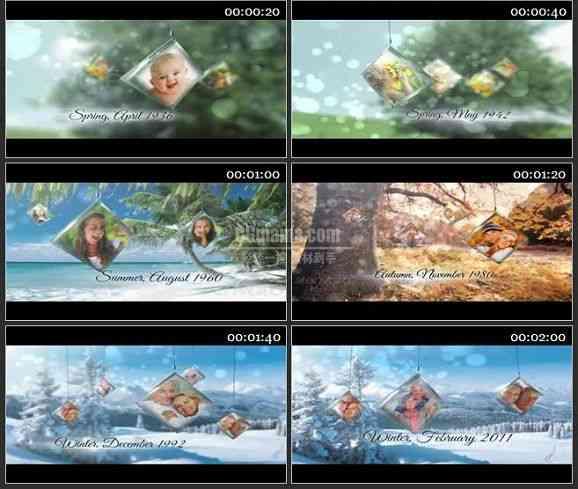 AE2050-四季变化风格相册