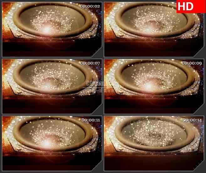 BG3350强节奏的跳动 音箱 银色亮片led大屏背景高清视频素材