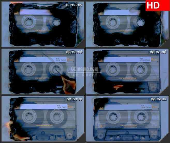 BG3353燃烧中的磁带led大屏背景高清视频素材
