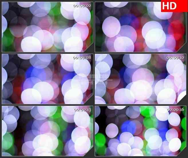 BG3373闪烁的五彩光斑 led大屏背景高清视频素材
