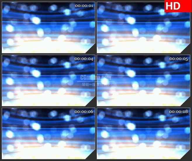 BG3378上升的蓝色发光粒子 朦胧梦境led大屏背景高清视频素材
