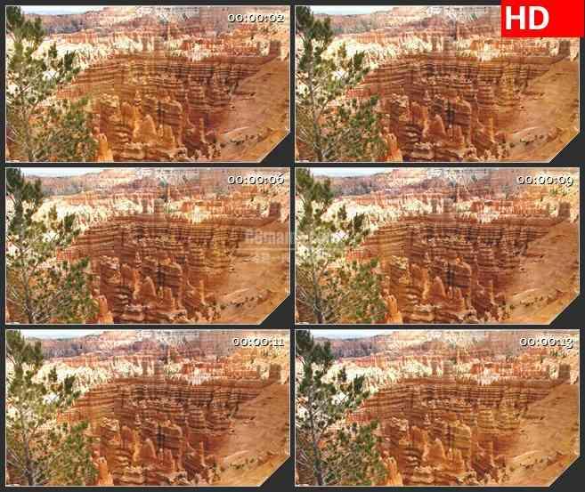 BG3386实拍自然景色 静谧的峡谷led大屏背景高清视频素材
