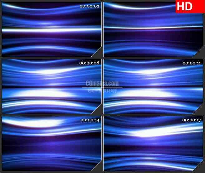 BG3390水平运动的蓝紫色光带led大屏背景高清视频素材
