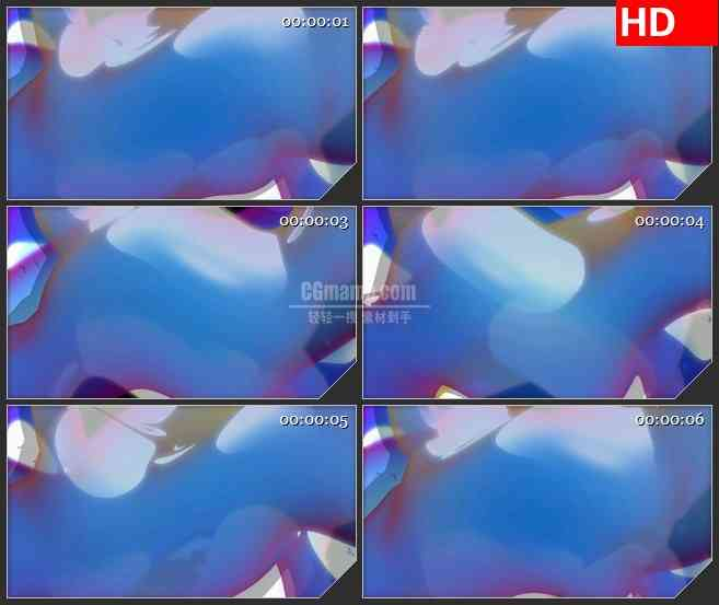 BG3391随机变换的的形体led大屏背景高清视频素材