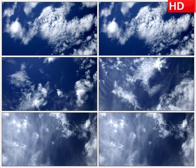 ZY1578多云的天空快速移动的白云高清实拍视频素材