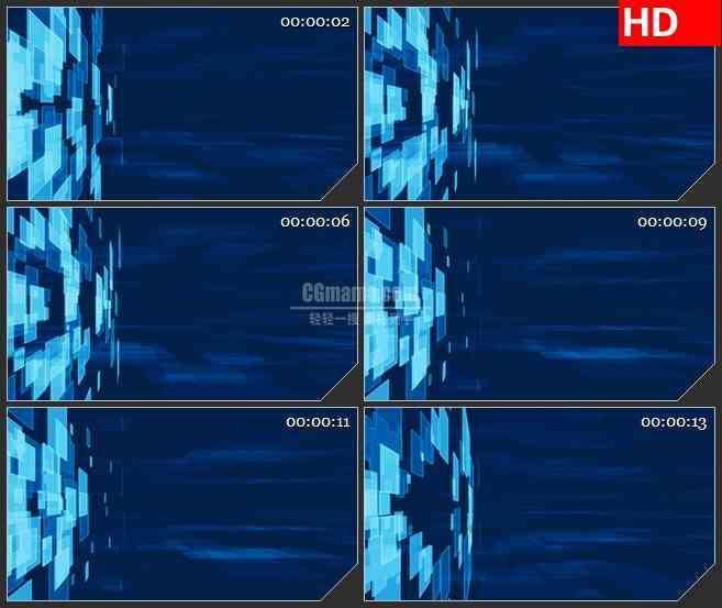 BG3412消失的蓝色光斑 栏目动态光背led大屏背景高清视频素材
