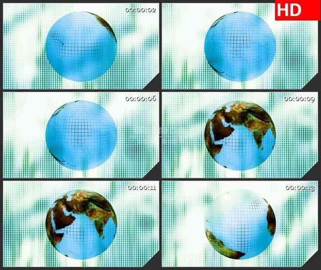 BG3417旋转的地球 特写 像素块led大屏背景高清视频素材