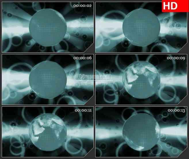 BG3418旋转的地球led大屏背景高清视频素材