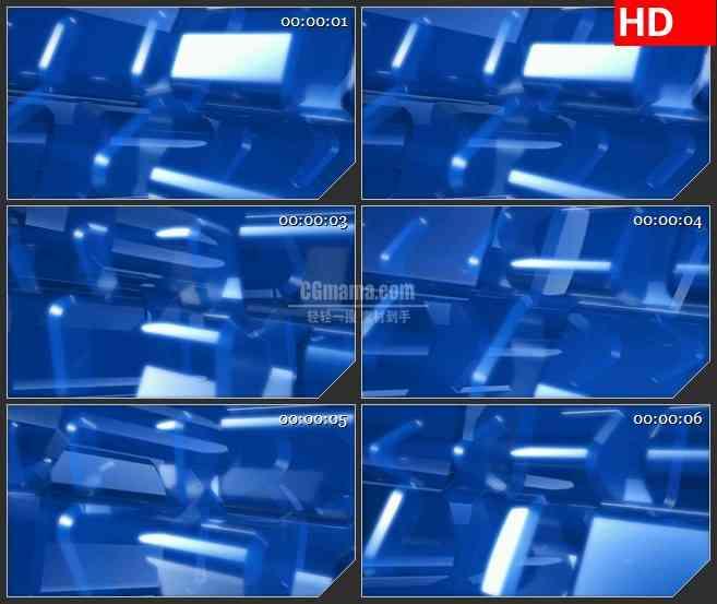 BG3425旋转的蓝色三角形 3Dled大屏背景高清视频素材