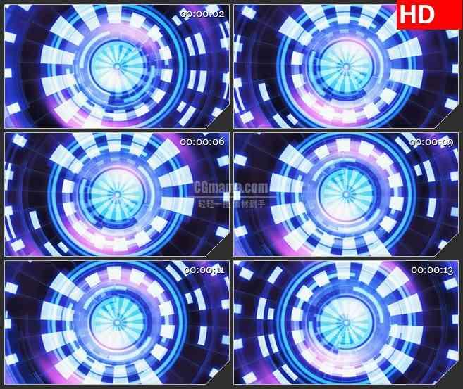 BG3430旋转的涡轮 彩色光盘led大屏背景高清视频素材